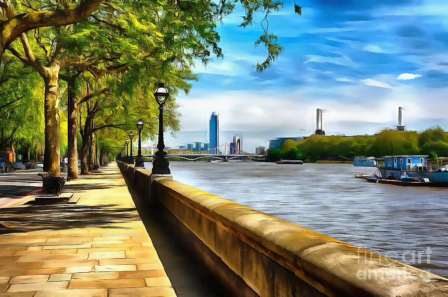 Chelsea Embankment Photograph By A Souppes