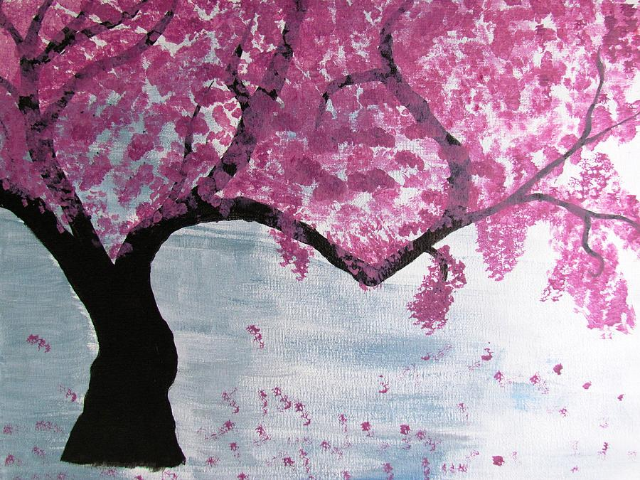 Cherry Blossom Painting By Diana Martinez