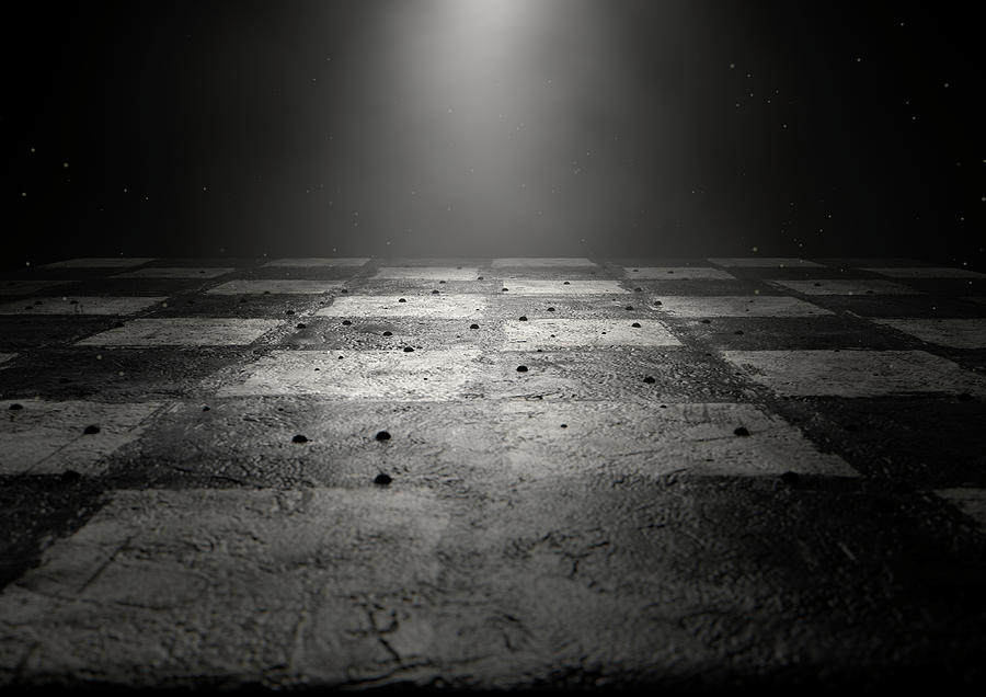 Chess Digital Art - Chessboard Dark 1 by Allan Swart