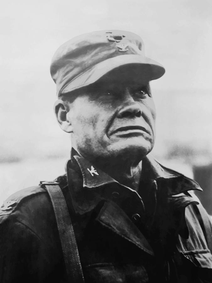 Chesty Puller Painting - Chesty Puller by War Is Hell Store