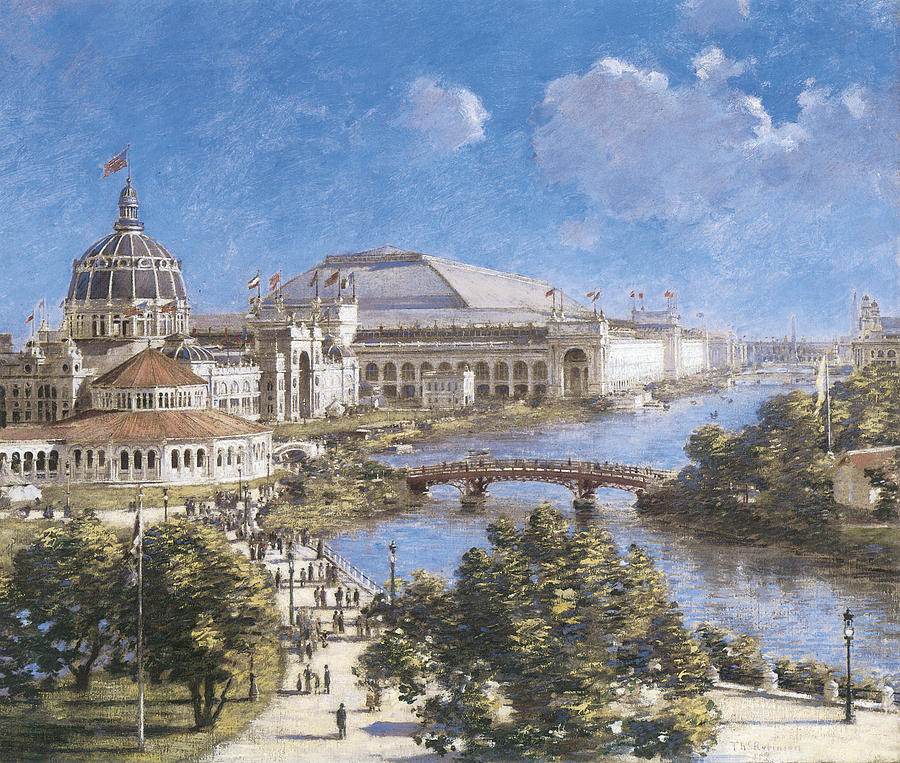 Theodore Robinson Painting - Chicago Columbian Exposition by Theodore Robinson