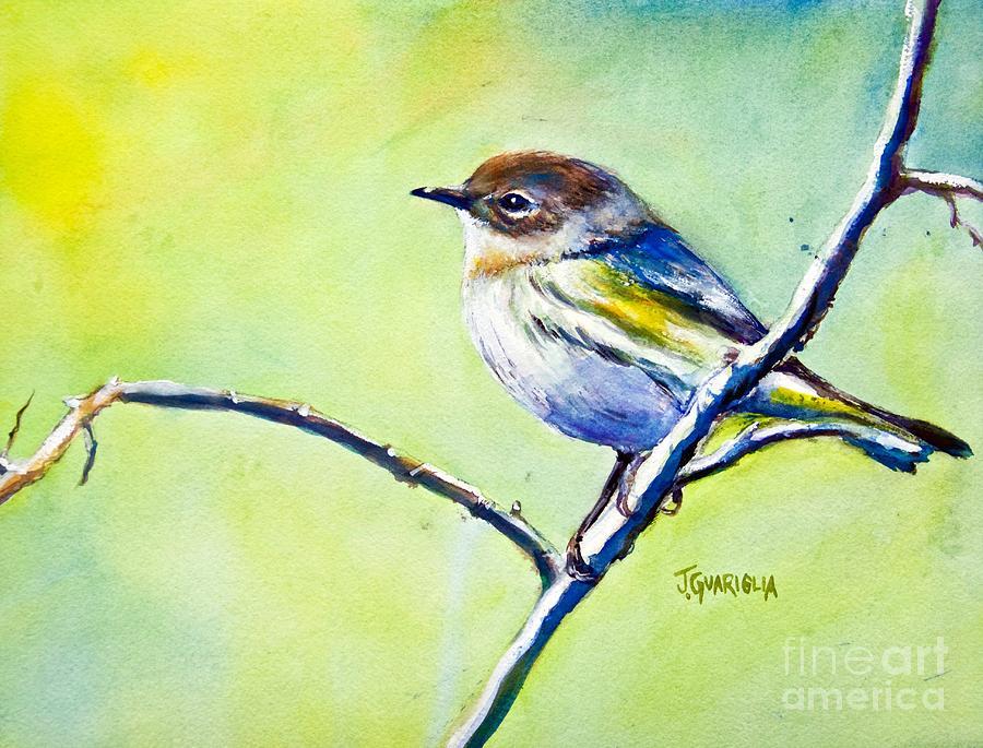 Chickadee Bird Painting - Chickadee by Joyce A Guariglia