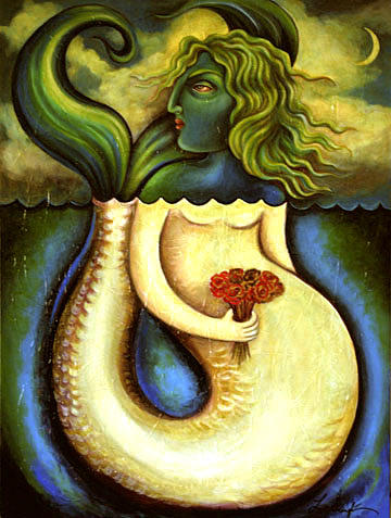 Mermaid Painting - Chicken Of The Sea by Lina Scarfi