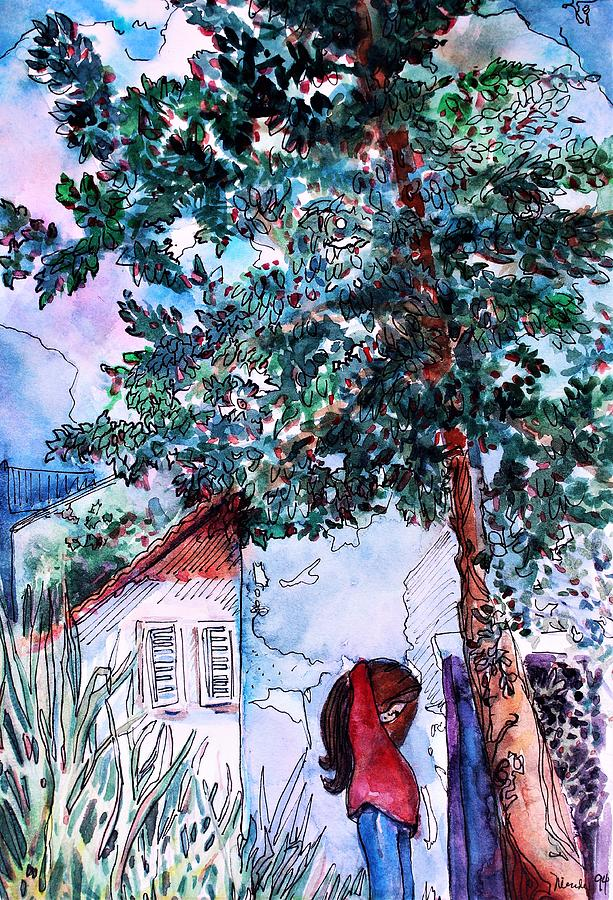 Tree Painting - Child Of Paros Greece by Mindy Newman