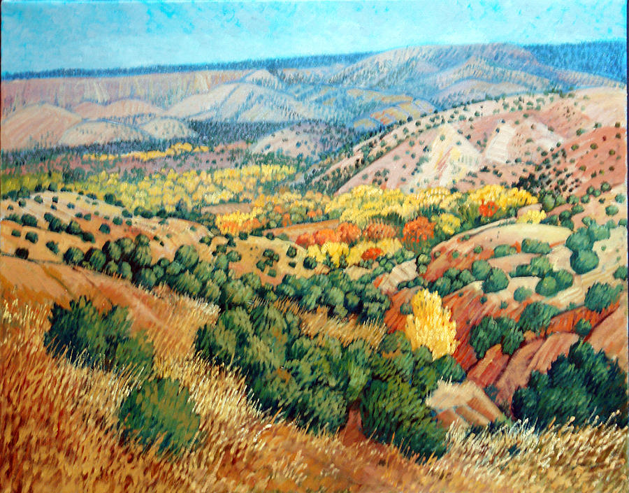 Southwestern Painting - Chimayo by Donna Clair
