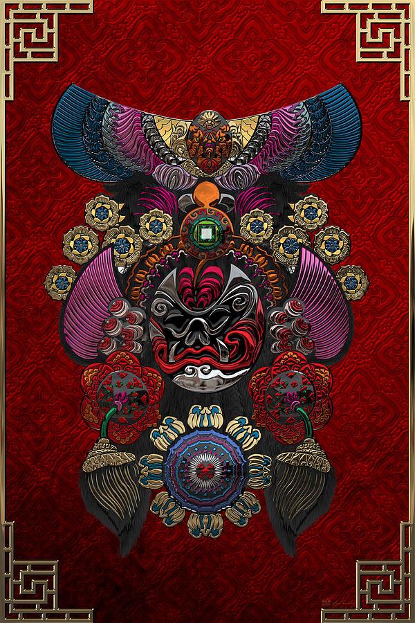 Chinese Masks Photograph - Chinese Masks - Large Masks Series - The Demon by Serge Averbukh