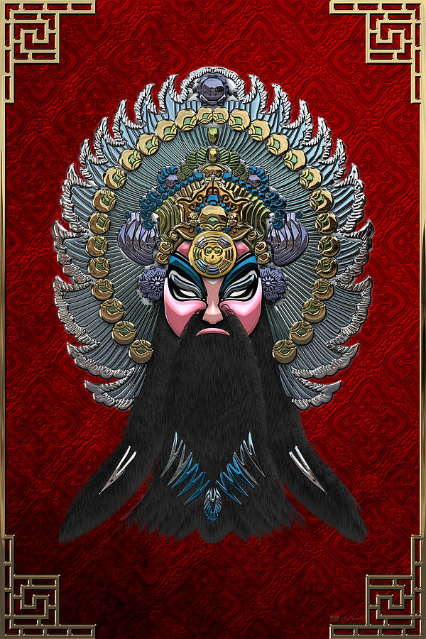 Peking Opera Masks Photograph - Chinese Masks - Large Masks Series - The Emperor by Serge Averbukh