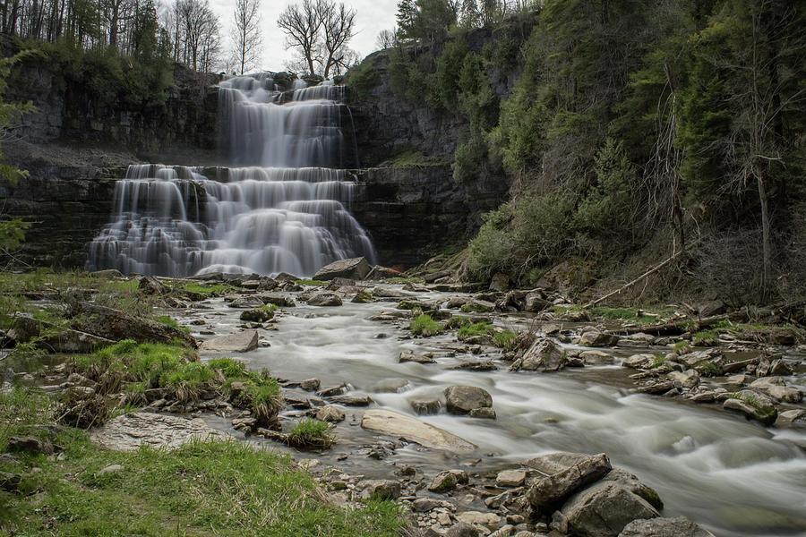 Hdr Photograph - Chittenango Falls, New York by Don Miller