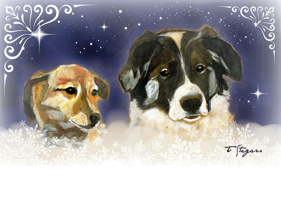 Christmas Doggies by Tarja Stegars