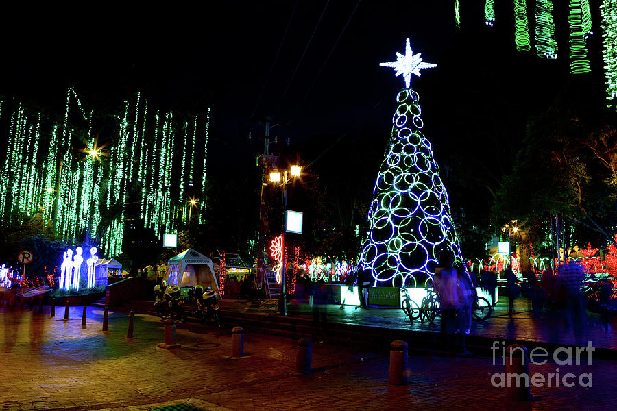 Christmas In Colombia South America.Christmas In Colombia South America
