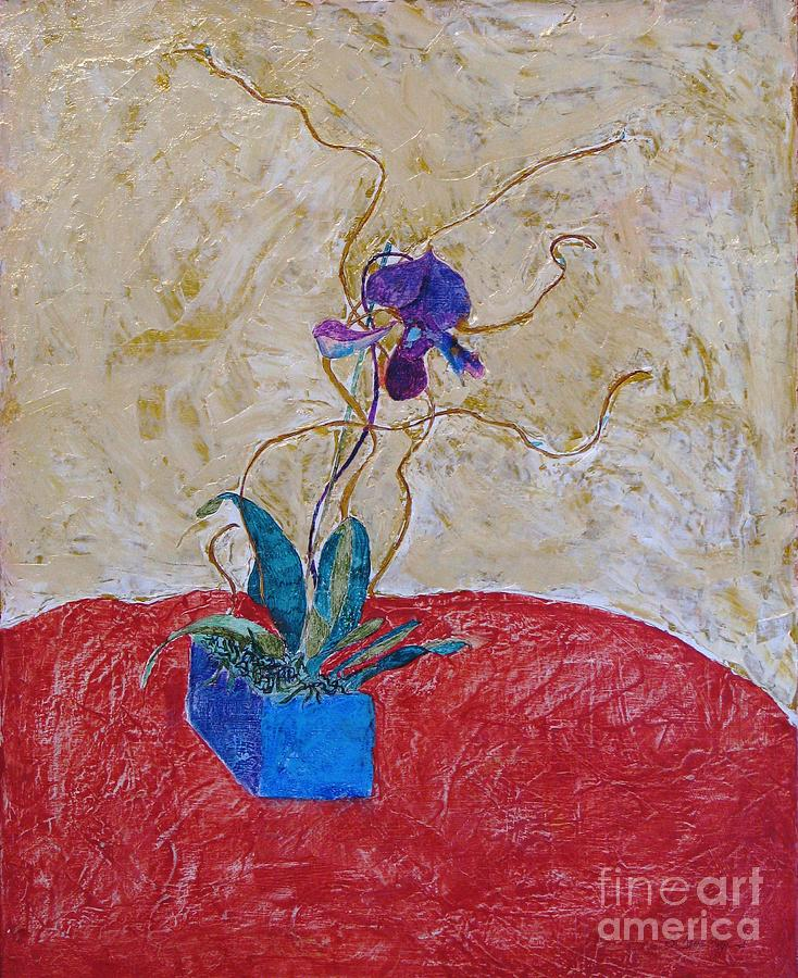 Abstract Painting - Christmas Orchid by James SheppardIII
