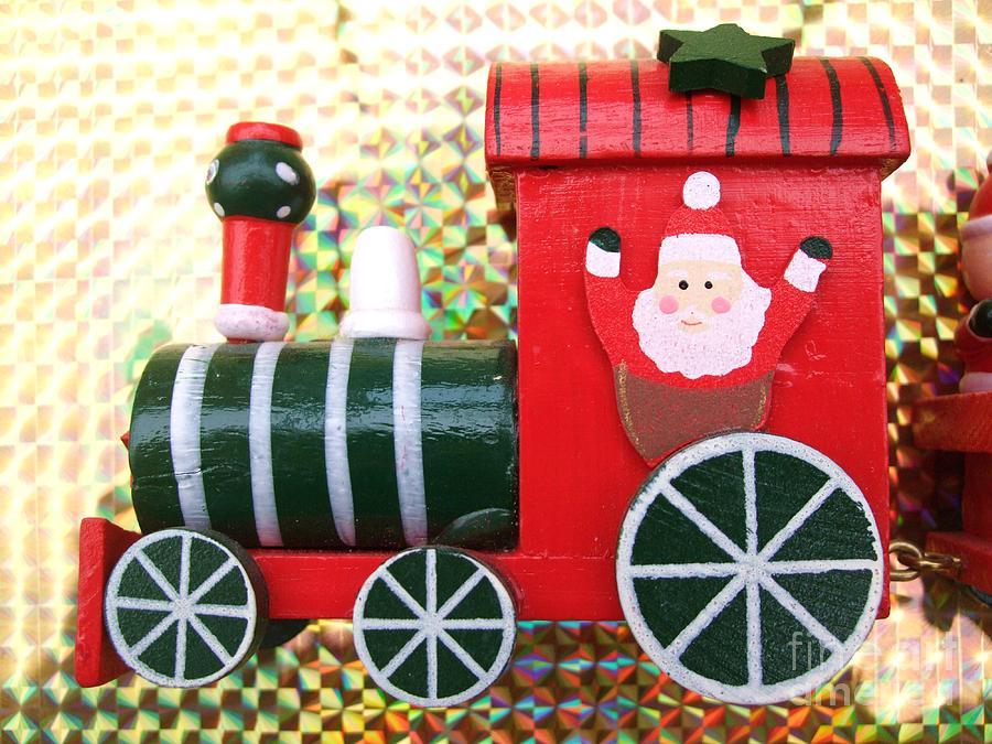 Carriage Photograph - Christmas Train by Deborah Brewer