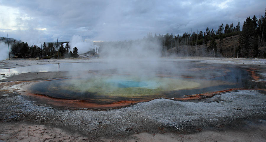Upper Photograph - Chromatic Pool Yellowstone by Pierre Leclerc Photography