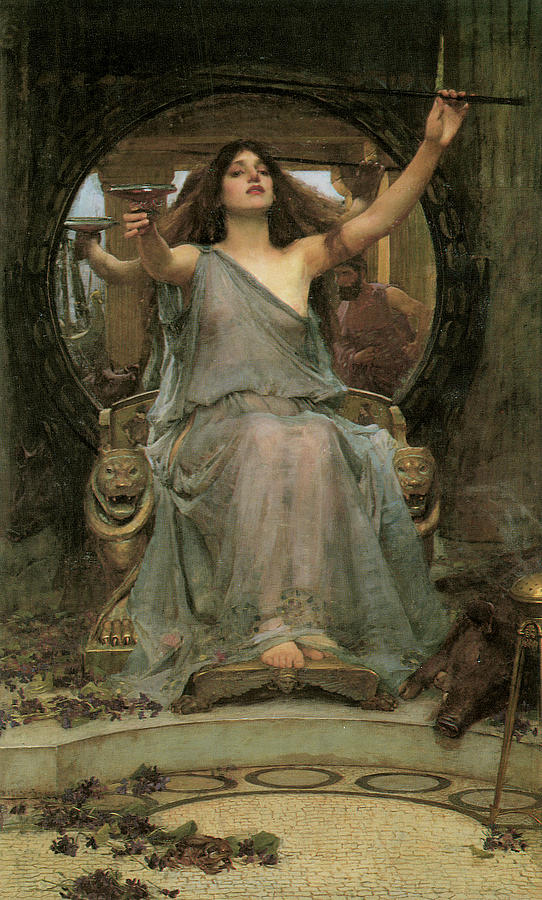 Circe Offering The Cup To Ulysses Painting By John William