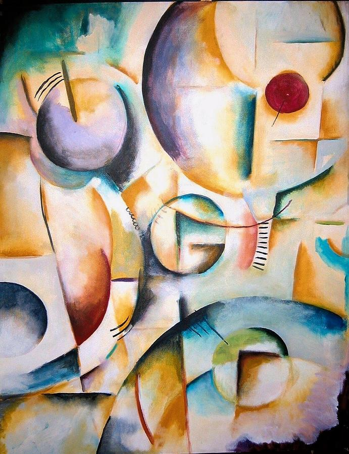 Cubism Painting - Circus by Halle Treanor