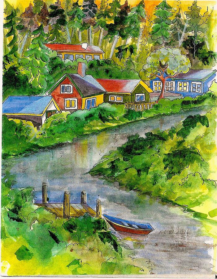 Clallam River Painting by KC Winters