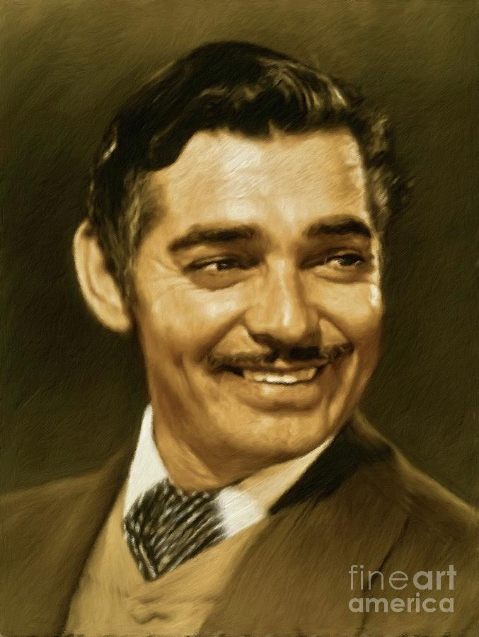 Clark Gable, Vintage Actor Painting