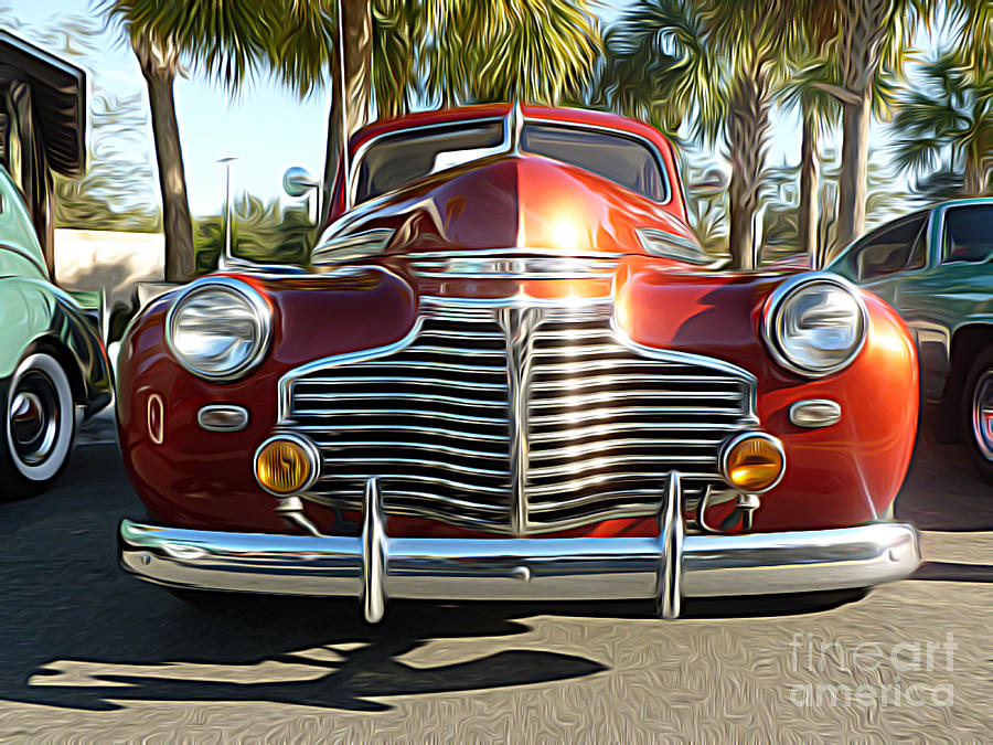 Classic Cars - 1941 Chevy Special Deluxe Business Coupe - Front End by  Jason Freedman