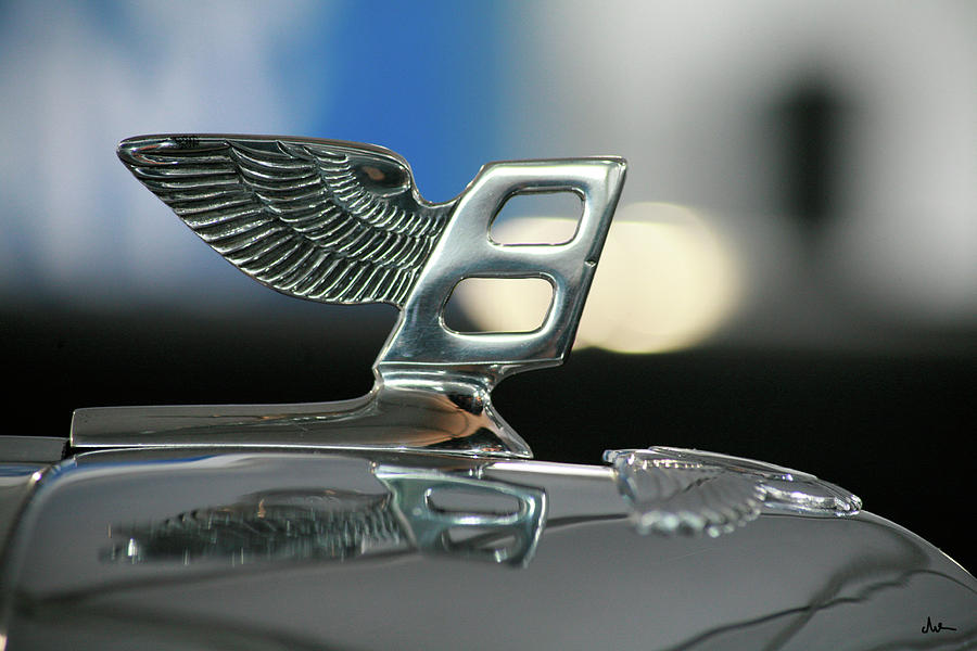 Hood Ornament Photograph - Bentley Hood Ornament by Ave Guevara