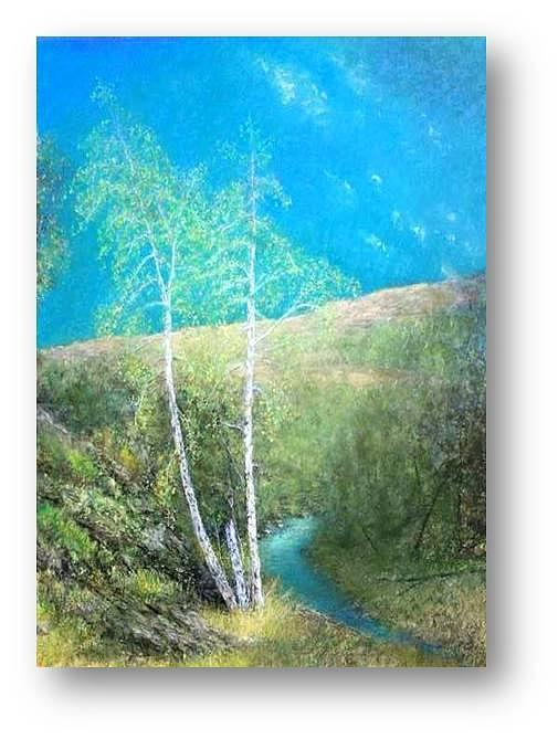 Birch Trees Painting - Clearing by Brian Higgins