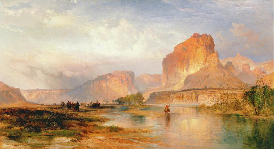 Moran Painting - Cliffs Of Green River by Thomas Moran
