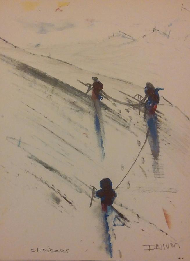 Three Climbers Painting by Gregory Dallum
