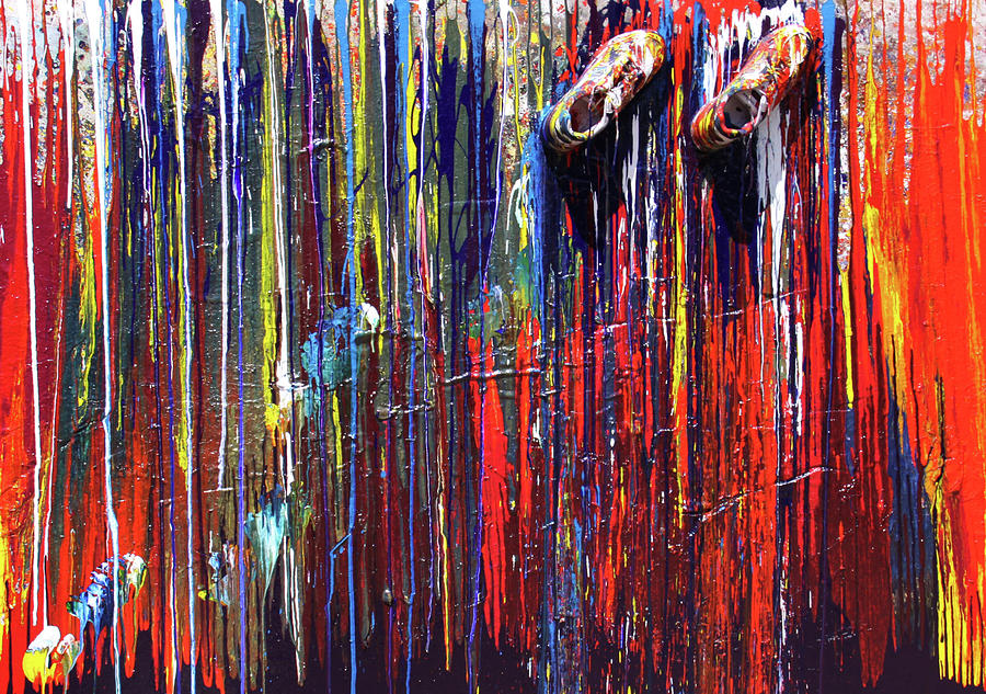 Abstract Painting - Climbing The Wall by Ralph White