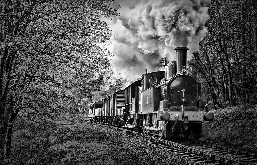 Coal Photograph - Coal Tank Engine In The Rain by Andrew Munro