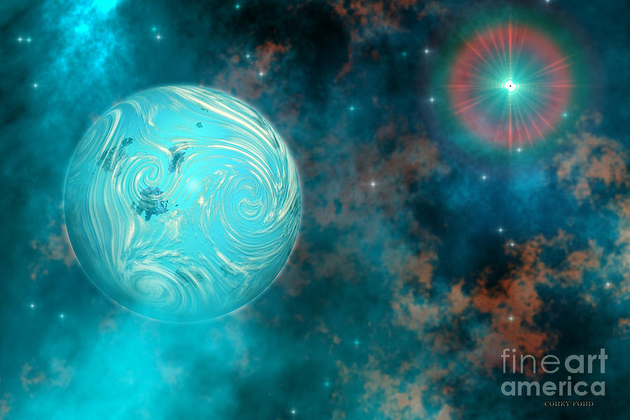 Science Fiction Painting - Coalescence by Corey Ford