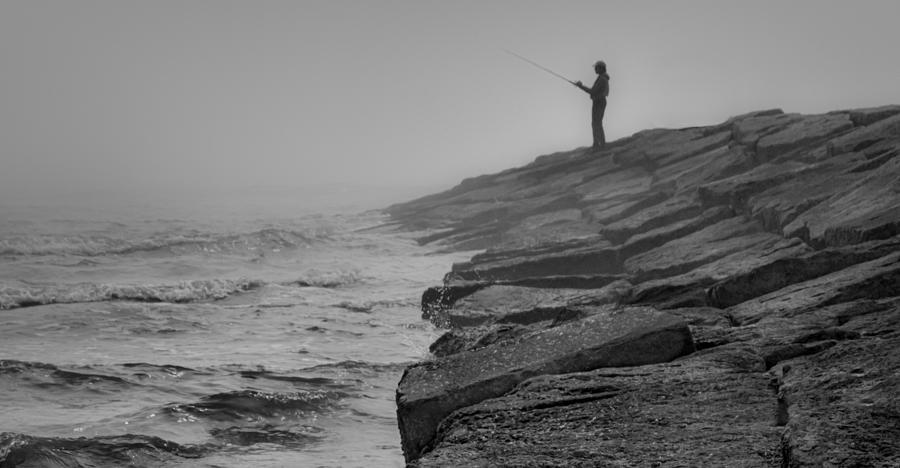 Galveston Photograph - Coastal Solitude by James Woody