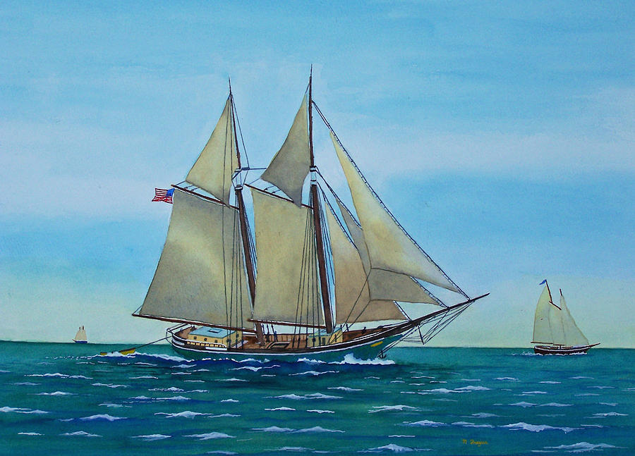 Coasting Schooner Australia by Norman Freyer