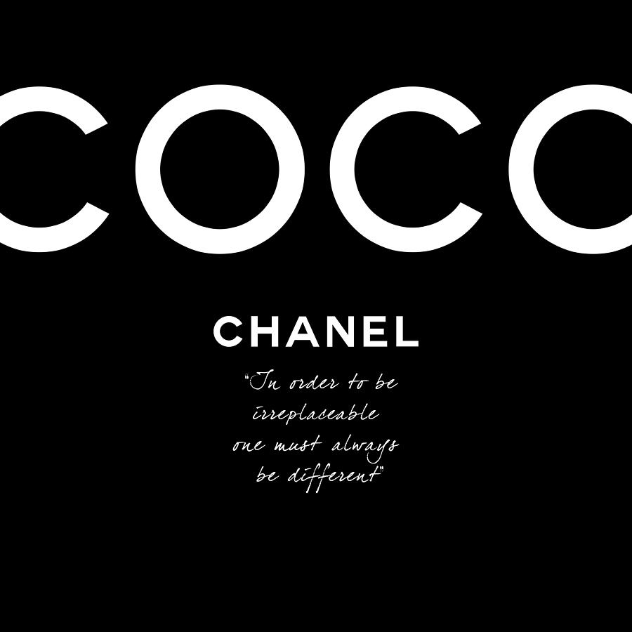 Chanel Digital Art - Coco Chanel Irreplaceable Quote by Tres Chic