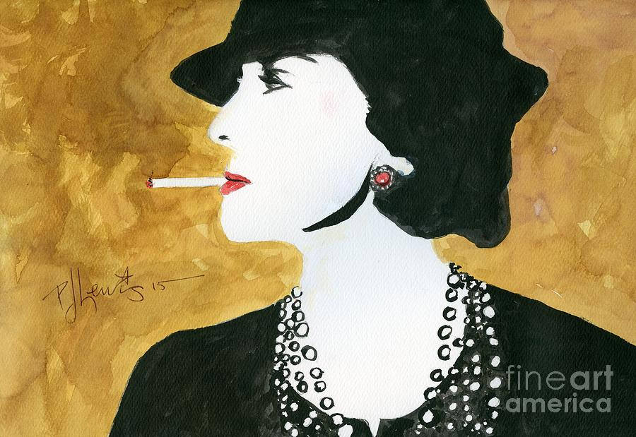 Coco Chanel Painting - Coco by PJ Lewis