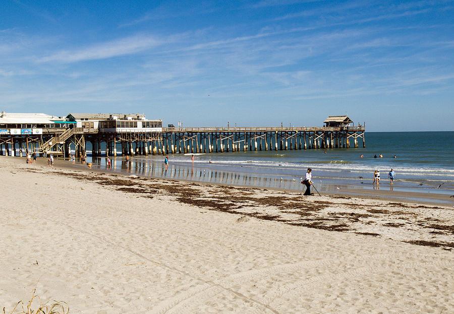 Cocoa Beach In Florida Photograph by Allan  Hughes