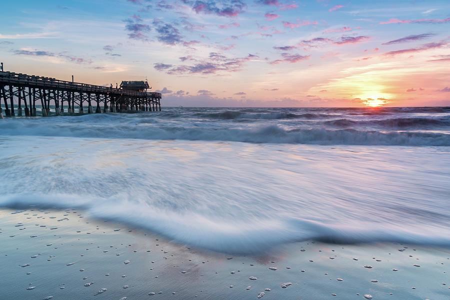 Cocoa Beach Pier at Sunrise, Cocoa Beach, Florida by Dawna Moore Photography