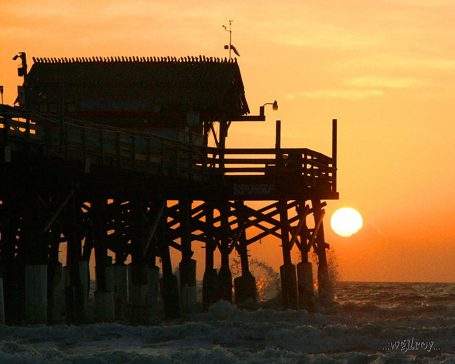 Nature Photograph - Cocoa Beach Pier/sunrise by W Gilroy