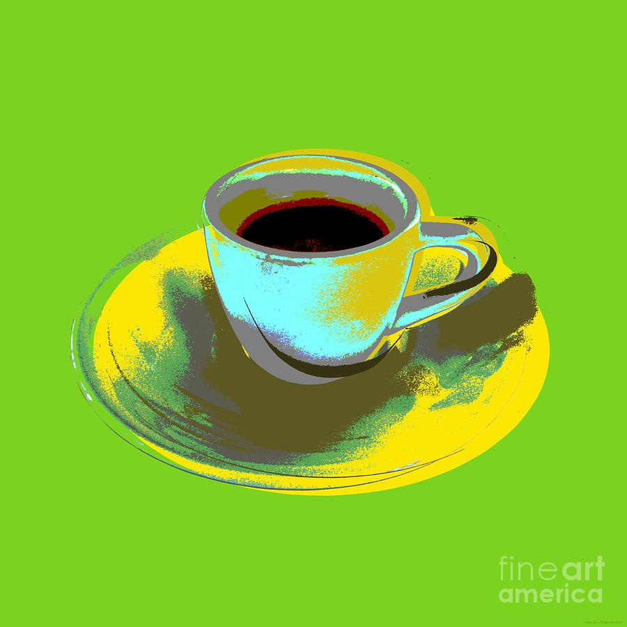 Coffee Cup Pop Art Digital Art