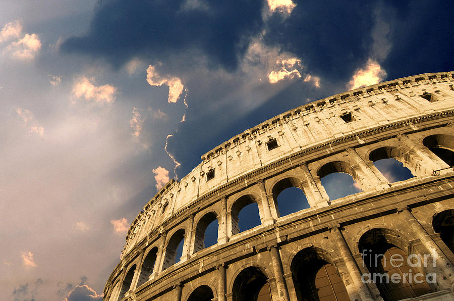 Worth Photograph - Coliseum. Rome. Lazio. Italy. Europe by Bernard Jaubert