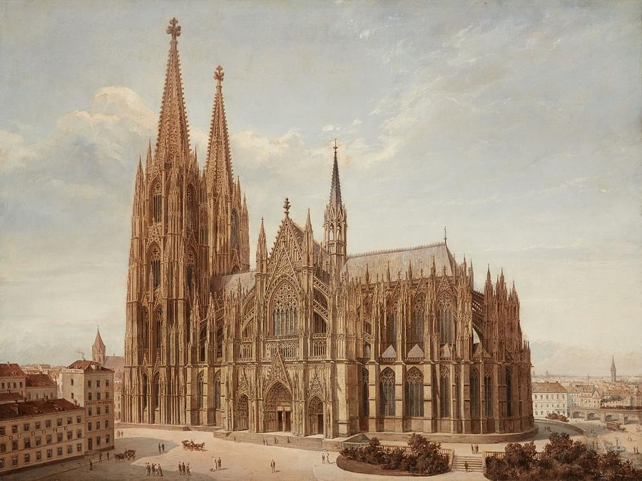 Cologne Cathedral Painting - Cologne Cathedral by MotionAge Designs