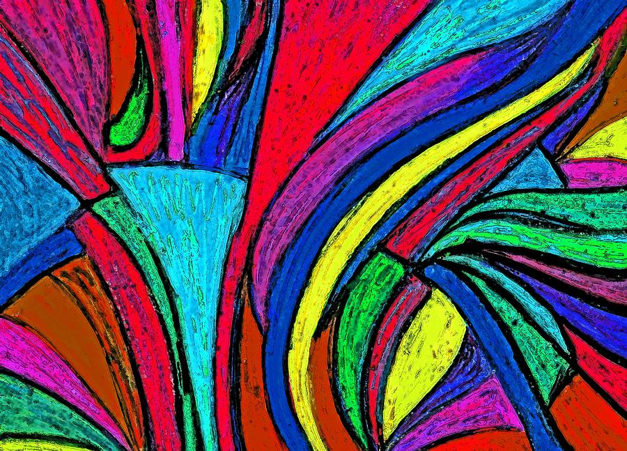 Colorful Digital Art - Color Flow by Cassandra Donnelly