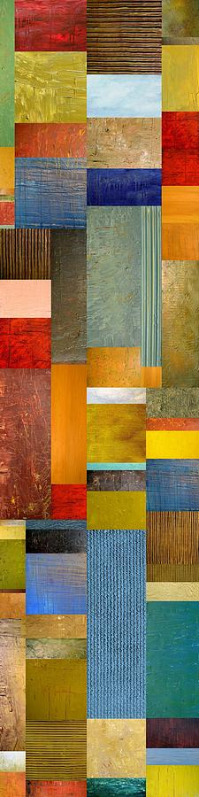 Skinny Painting - Color Panels With Blue Sky by Michelle Calkins
