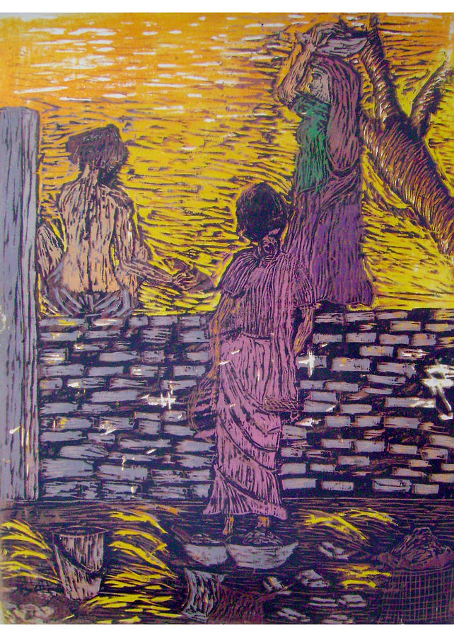 Color Wood Cut Print Relief By Disha Singhal