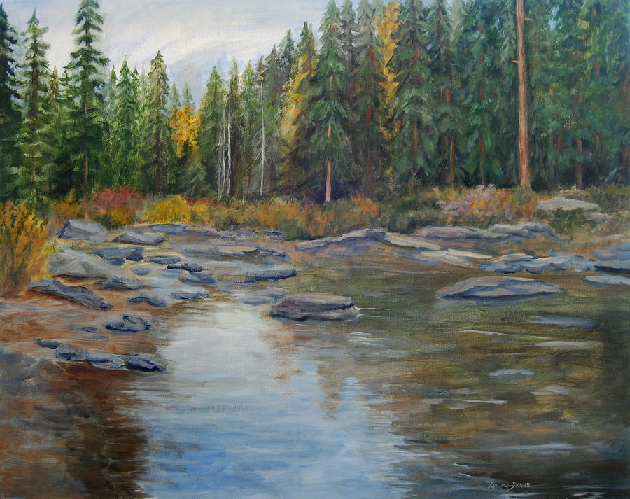Nature Painting - Colorado Reflections by Lorna Skeie