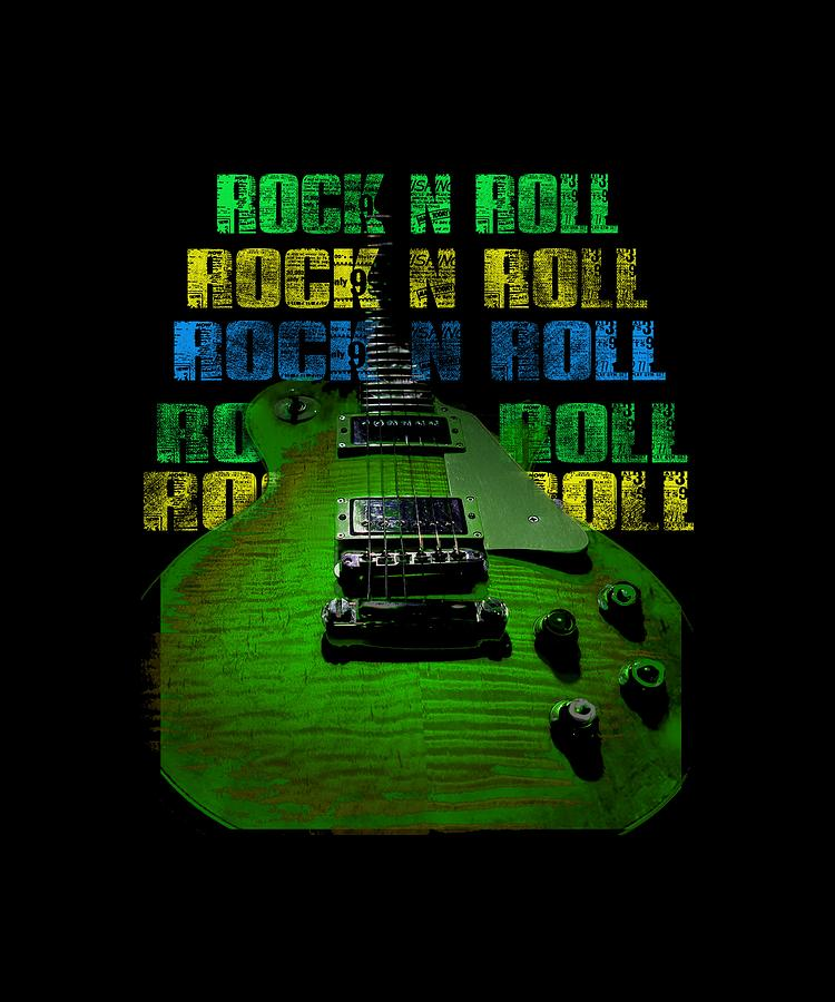 Guitar Photograph - Colorful Music Rock N Roll Guitar Retro Distressed  by Guitar Wacky