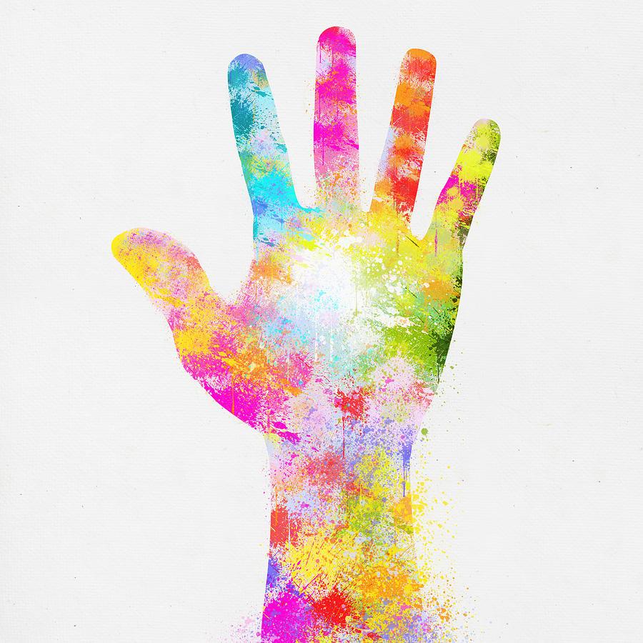 Arm Painting - Colorful Painting Of Hand by Setsiri Silapasuwanchai