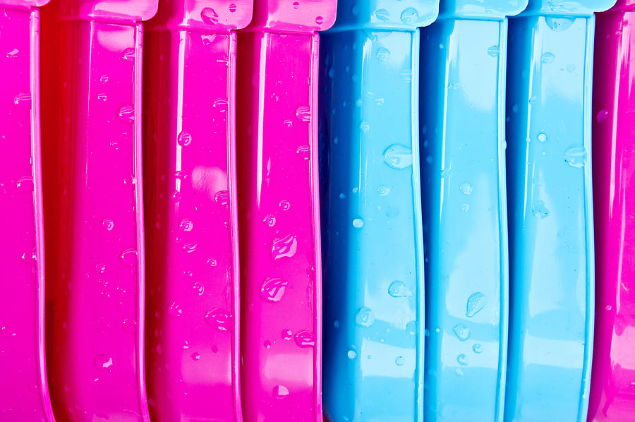 Abstract Photograph - Colorful Plastic by Tom Gowanlock
