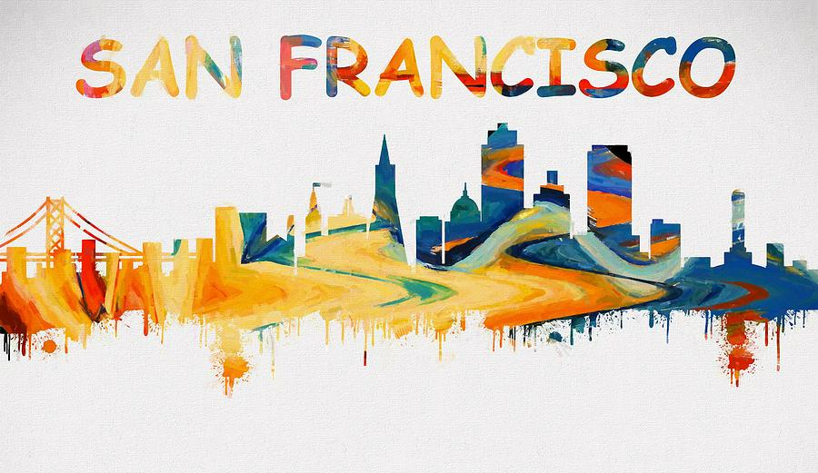 San Francisco Skyline Outline