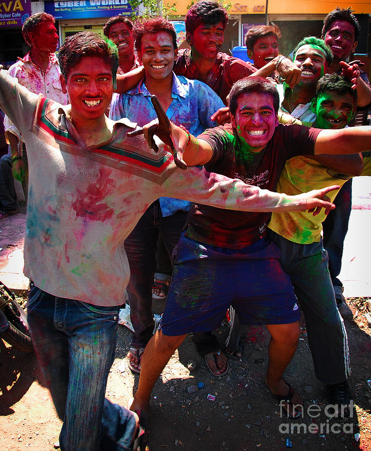 Boys Photograph - Colors by Charuhas Images