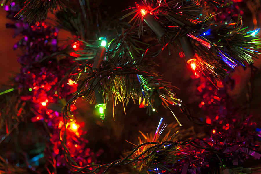 Colourful Christmas Tree Close Up Photograph By Paul Cullen