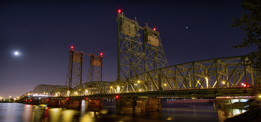 Columbia Crossing I-5 Interstate Bridge At Night